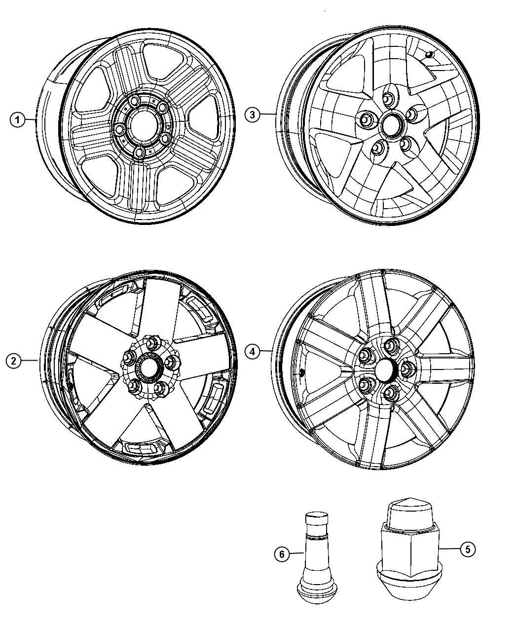 Jeep Wrangler Wheel Aluminum Front Or Rear Color No