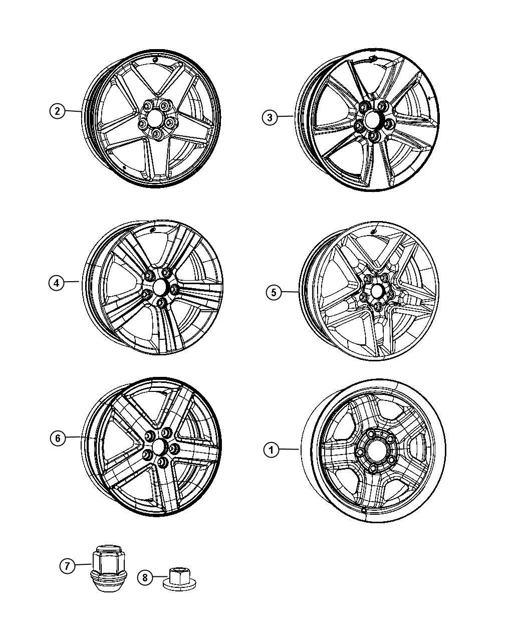 Jeep Patriot Wheel Aluminum Front Or Rear Color No