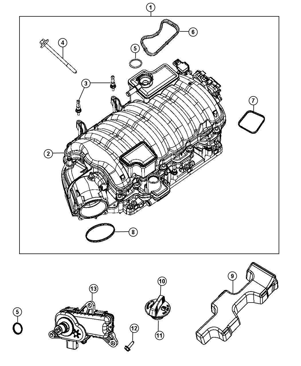 Jeep Grand Cherokee Actuator Intake Short Running Valve