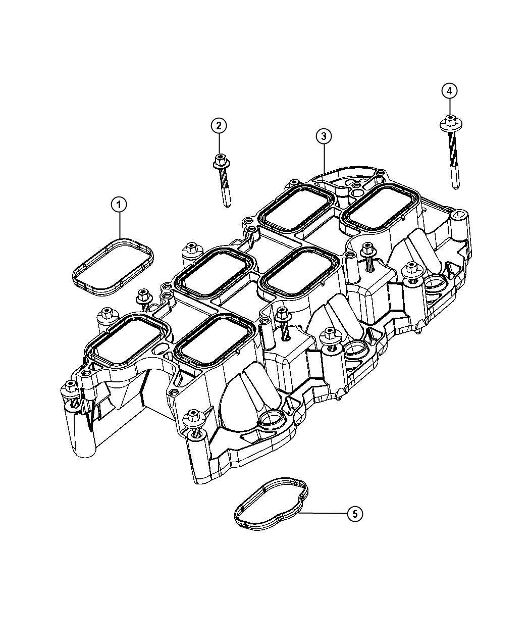 Jeep Wrangler Gasket Intake Plenum Mounting Manifold