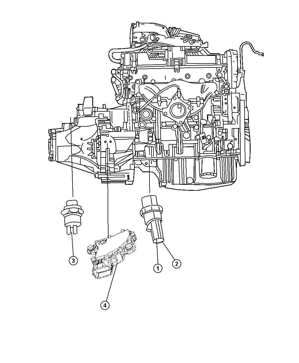 Jeep Patriot Switch Package Oil Pressure Switches