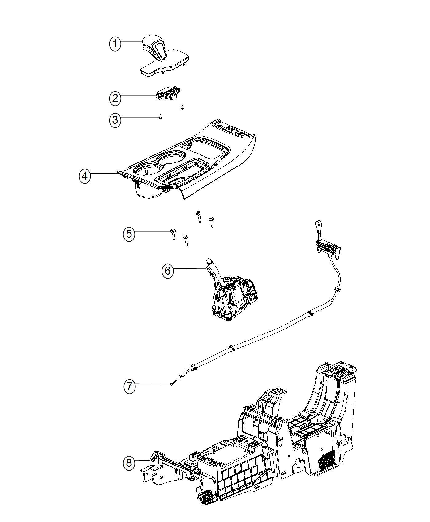 Jeep Grand Cherokee Bezel Gear Shift Indicator Trim No