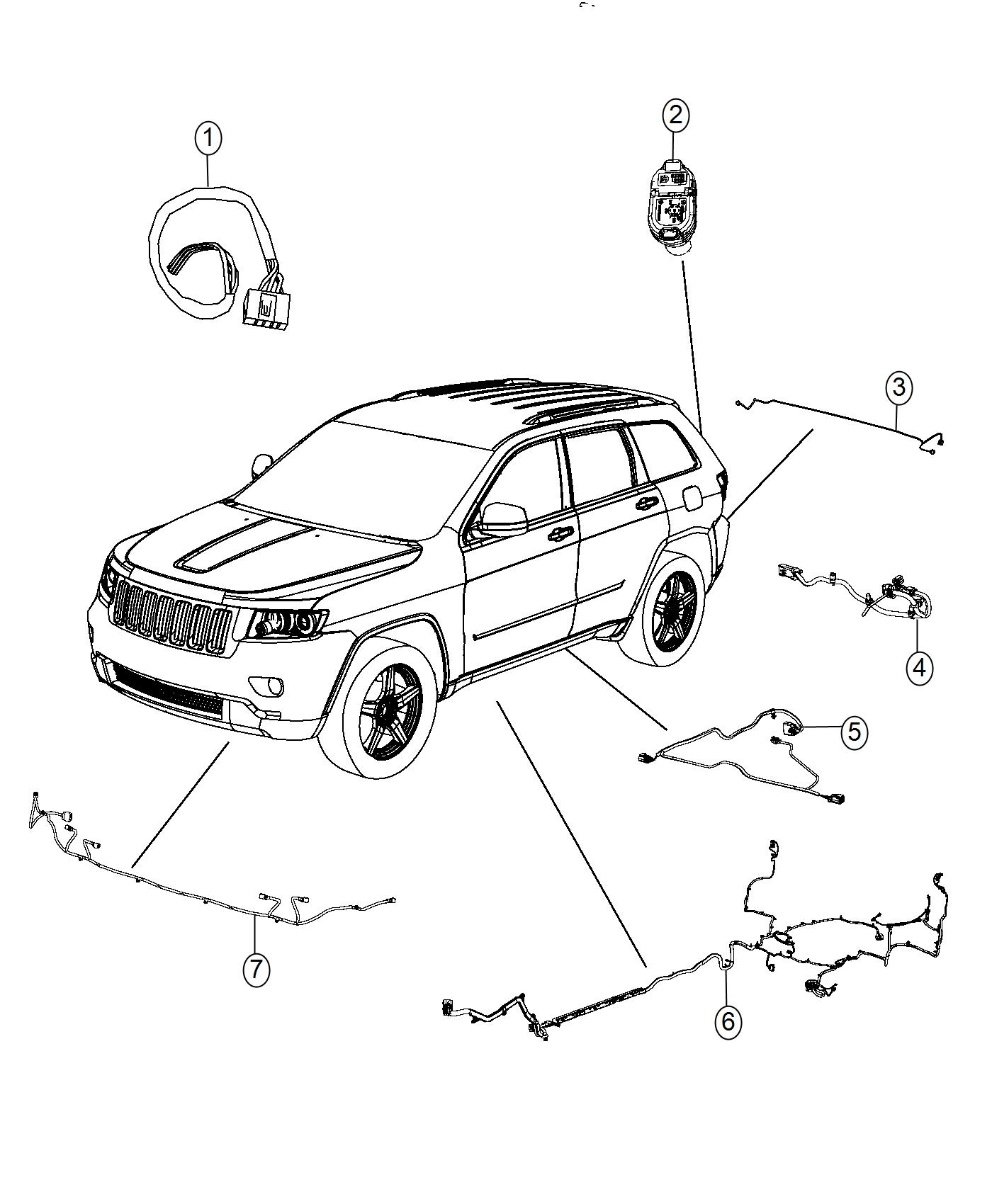 Jeep Grand Cherokee Wiring Front Fascia