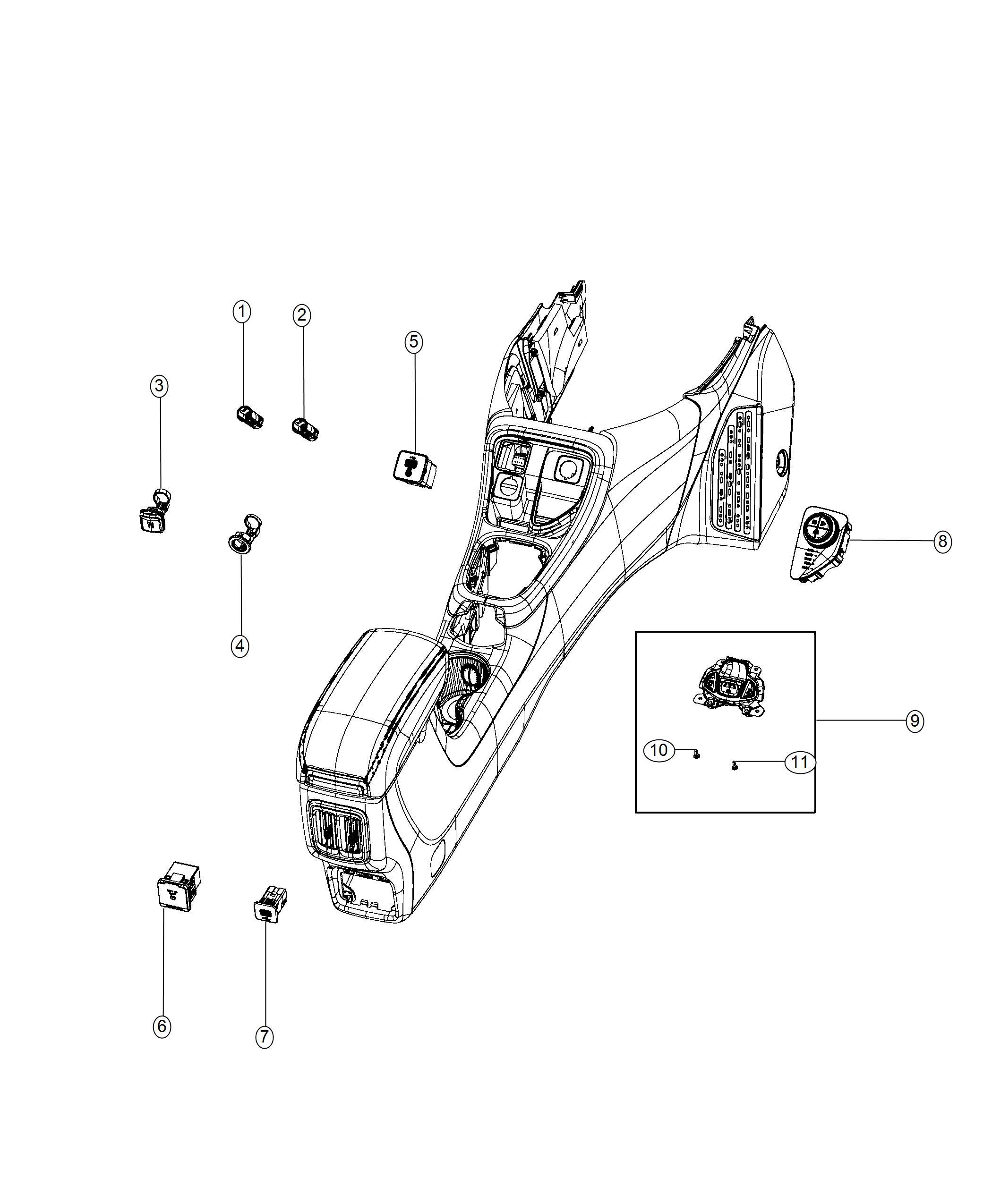 Jeep Renegade Usb Charging Port Trim No Description