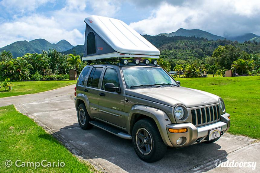 Rental Maui 4 215 4 Jeep With Rooftop Tent Kahului Hi