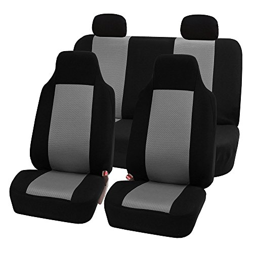 Truck Blue//Black Color- Fit Most Car or Van FH Group FH-FB032115 Unique Flat Cloth Seat Covers SUV