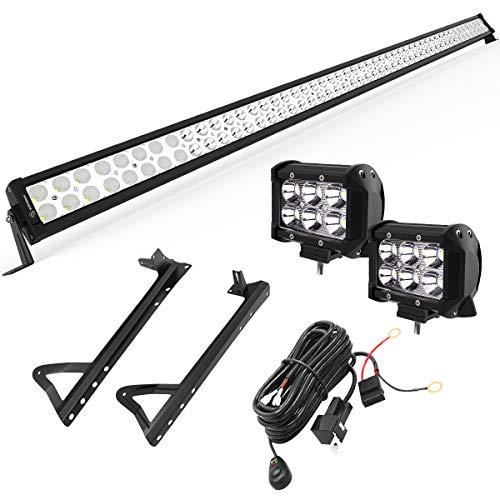 YITAMOTOR 52″ inch 300W Combo+ 2X 18W Spot LED Light Bar