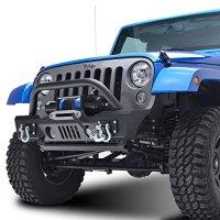E-Autogrilles 07-15 JEEP Wrangler JK Heavy Duty Rock Crawler Front Bumper (51-0357 )