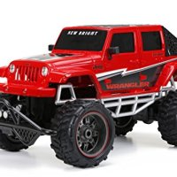 New Bright R/C F/F 4-Door Open Back Jeep Includes 9.6V Power Pack, Batteries & Charger (1:8 Scale), Red