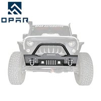 Opar Stubby Full Width Front Bumper w/ LED Lighting for 2007-2018 Wrangler JK & Wrangler Unlimited