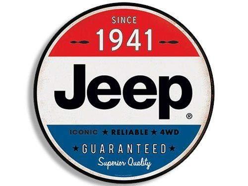Jr Studio 4 U00d74 Inch Round Vintage Jeep Since 1941 Sticker