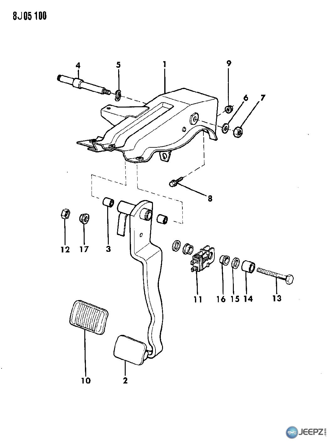 44452 brake booster push rod pedal help 88 jeep wrangler wiring diagram at ww2 index2 13399d1363202313enginenotstartingtachometersketch