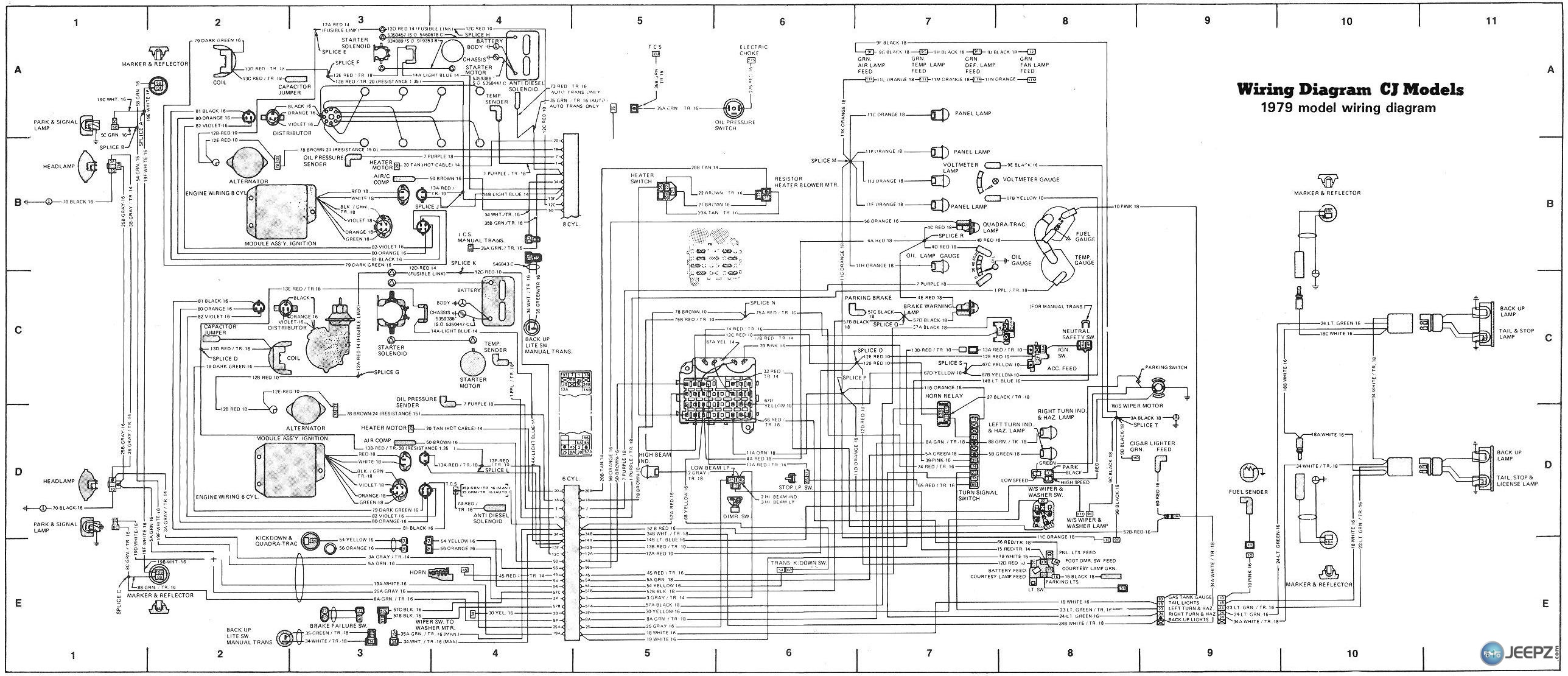 Jeep Wiring Diagrams Cj7 Diagram Wire Map - Wiring Diagram For Light ...