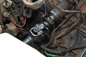 Replacing the lower steering shaft bearing and steering gear coupling on a CJ