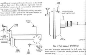 4wd vacuum hoses