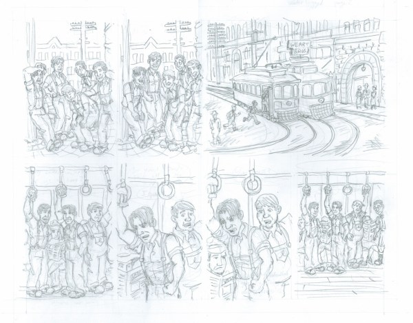 Pencils for page 2 of my Waterlogged story