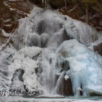 New England photography of Moss Glen Falls in winter