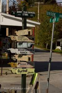 Signs showing the way around Danby Vermont