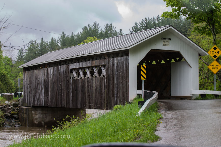 side view of the Comstock Covered Bridge