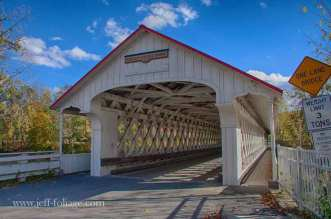 The Ashuelot covered bridge is considered by local historians to be one of New Hampshire's most elaborate covered bridges