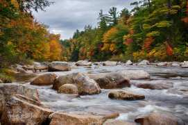the Swift River runs along the Kancamagus Highway