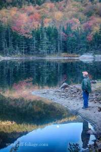 Jeff Foliage standing at the edge of the beaver pond in north Woodstock NH