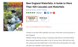 Waterfalls of New England from Barnes and Nobel