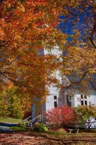 St Mathew's church in Sugar hill New Hampshire is a great location for leaf peeping in the autumn. The reds and golds of the fall colors are hard to match anywhere else.