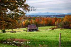 Fall colors on Vermont farm in Central VT east of Lake Champlain, Oct 10 2013