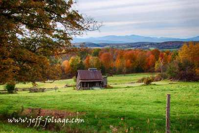 Vermont farm in Central VT east of Lake Champlain, Oct 10 2013