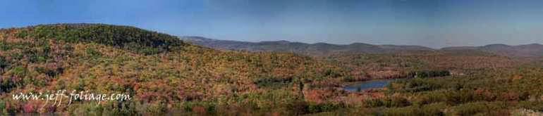 New England Fall foliage colors as far as the eye can see from the rest stop on I-89 in NH