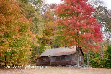 The fall colors of Vermont