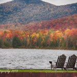 An autumn play in three act on the development of fall foliage in Vermont's Seyon Pond State park. The New England fall foliage is brighter below the top of the hills and closer to the edge of the pond.