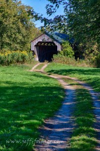 Vermont Autumn at Gates covered bridge