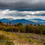 View from Kancamagus overlook in New Hampshire's white mountains, #Vistaphotography, #JeffFoliage, #JeffFolger