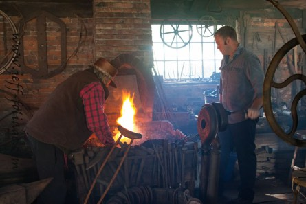 Black smith shop and tools