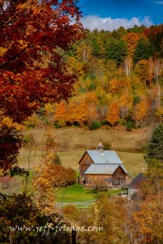 The Sleepy Hollow Farm in Woodstock Vermont also known as the Gray farm, Iconic Vermont scenic location