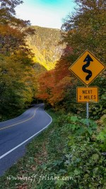 Smugglers Notch in New England fall foliage