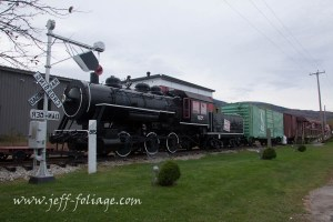 In Gorham New Hampshire you can climb on the old steam and diesel engines and the cars on the sidings.