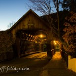 Dusk at the Woodstock covered bridge