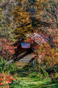 New Hampshire covered bridge in Cornish NH