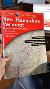 Gazetteer map book for New Hampshire and Vermont