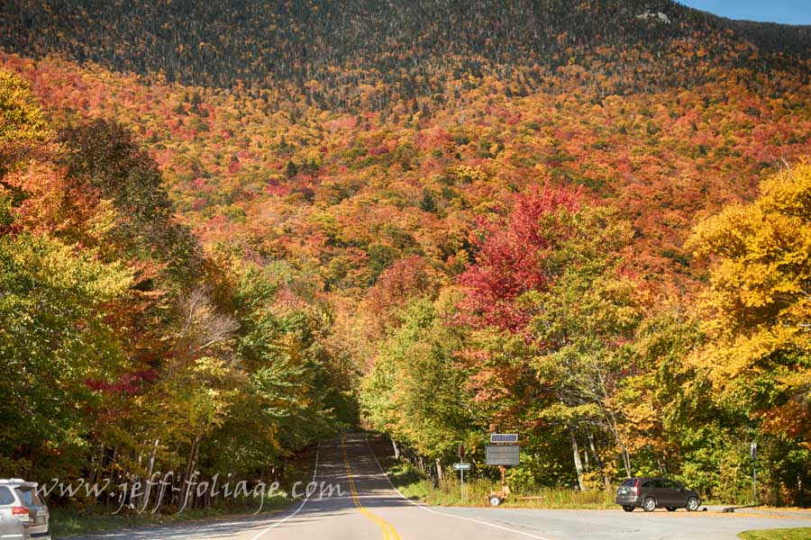 Smugglers Notch in Stowe Vermont for 7 Oct fall foliage report