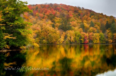 Pogue pond reflection, New England photography, scenic Vermont images