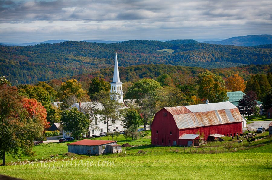 New England fall foliage and New England photography of Peacham Vermont