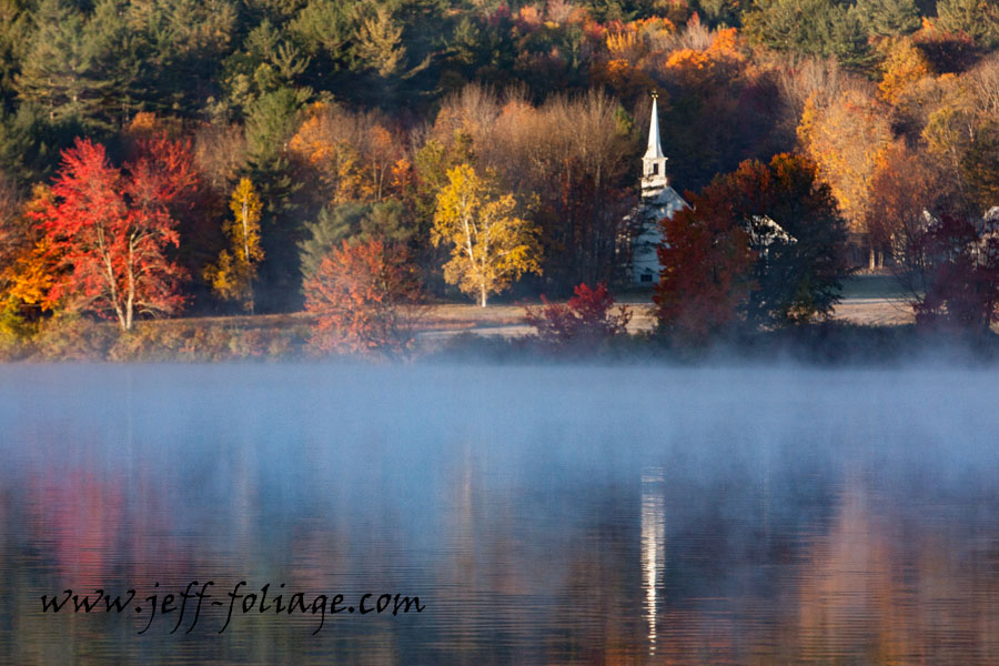 New England fall foliage photography of scenic Eaton New Hampshire