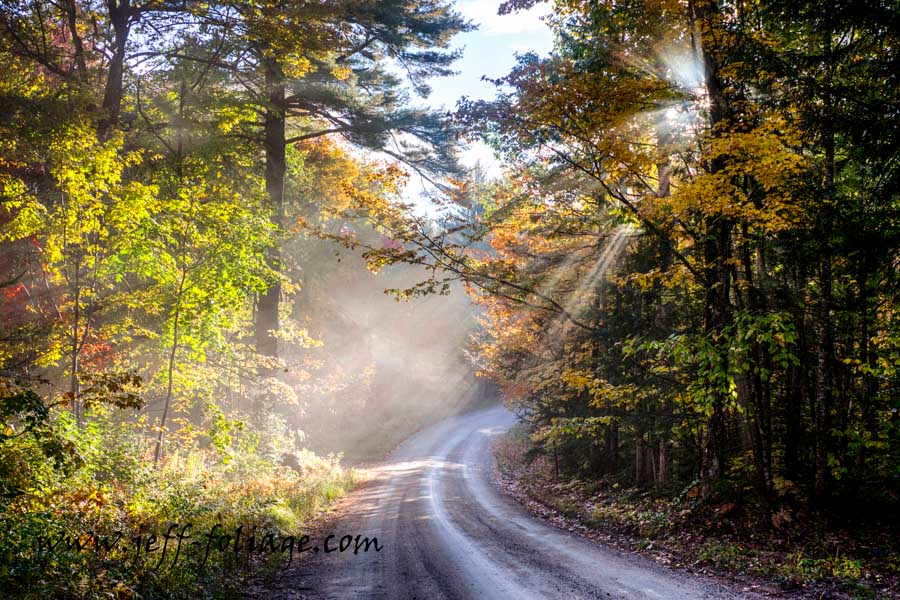 New England photography of a mountain road above Eaton New Hampshire