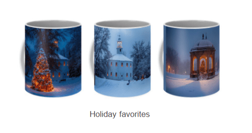 mugs with scenic New England Photography