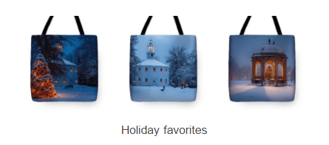 totes with scenic New England Photography