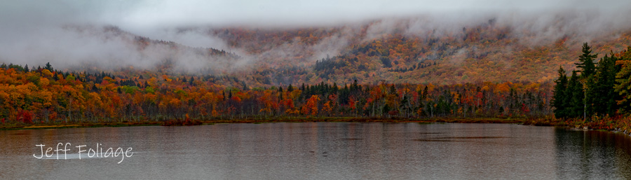 New England fall foliage at the Basin in New Hampshire's White Mountains.